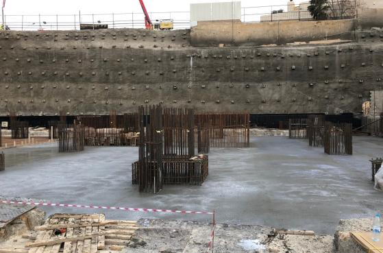 2nd Phase of Casting for Raft Foundation