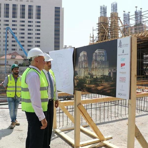 Field visit for His Excellency Mr. Muhannad Shehadaeh, Minister of State For Investment Affairs to The Ritz-Carlton Hotel and Residences project site in Amman